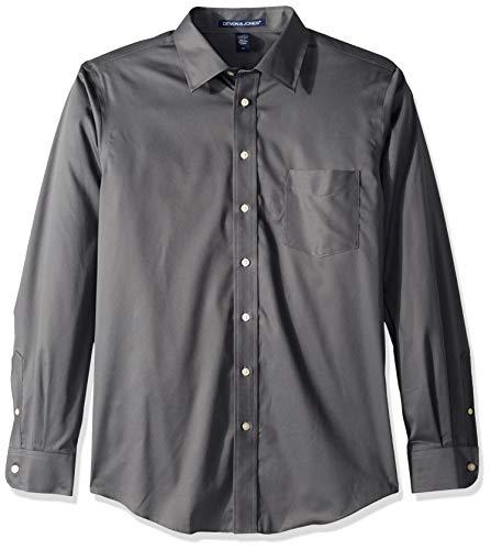 D & Jones Men's V-Neck Sweater, Graphite, 4X-Large