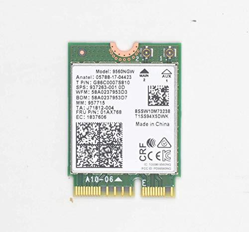 Siren WiFi Card Wireless-Network Card 9560AC, 9560NGW,AC 9560, M.2 2230, 2X2 Ac+Bt, Gigabit, No Vpro NGFF Key E (M2:CNVio)