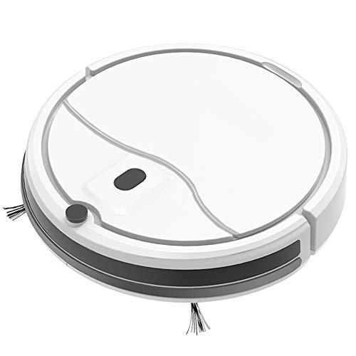 qiangge Robot Vacuum(Slim),Robot Vacuum Cleaner,APP & Alexa Control Google Control,Voice Control,Ideal for Pet Care Hard Floors Low Pile Carpet, White