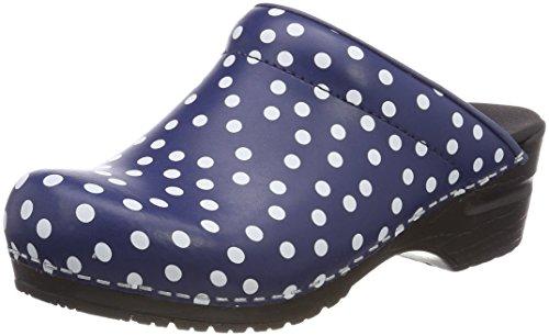 Sanita Damen Fenja Open Clogs, Blau (Blue 5), 37 EU