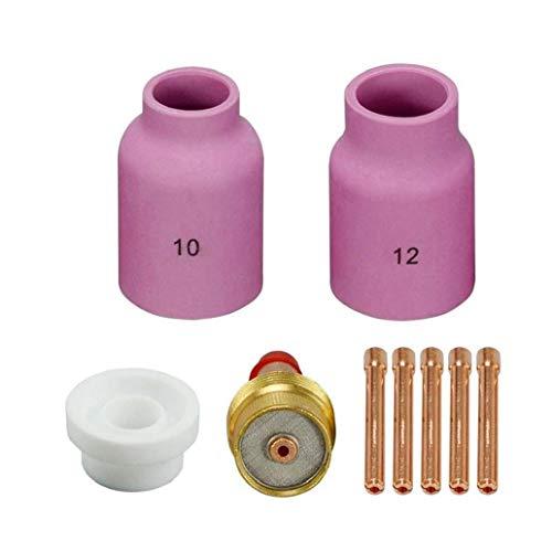 Aiyrchin Boquilla Collet Cuerpo de la Boquilla Kit de electrodos de tungsteno WP-17/18/26 Soldadura TIG Accesorios Consumibles 9Pcs