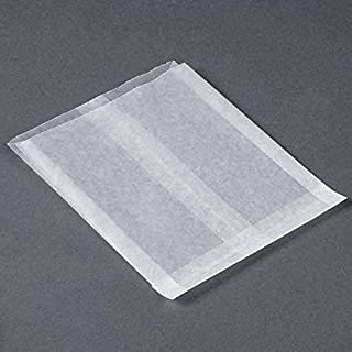 Glassine Waxed Paper Bag, Flat Glassine Lined Paper Gourmet Bags 6 x 7 x 3/4, (1000)