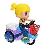 Detrade In situ - Triciclo eléctrico para niños, con luz, 360 Grados de Giro y...