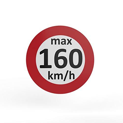 AUPROTEC - Pegatinas de velocidad para neumáticos de invierno (160-240 km/h, 50 unidades, 160 km/h)