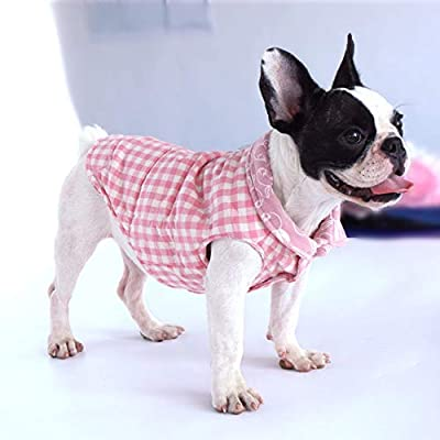 ljpxbb Pet Winterproof Print French Bulldog Clothes Small Dog Pet Clothes Product Pink Chihuahua Clothing Costume For Small Dogs Puppy Girl Dog Coat-In Dog Coats & Jackets
