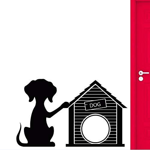 Vinyl Haustier Hund Wandaufkleber Dekoration Wandtattoos Hundehütte Tierhandlung Vinyl Wandaufkleber57x35cm