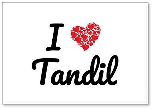Mundus Souvenirs - Jadore Tandil, Aimant de réfrigérateur (désign 2)