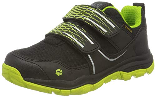Jack Wolfskin Unisex Kinder MTN Attack 3 Texapore Low VC K Outdoorschuhe, Black/Lime,36 EU