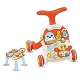 KAILUN Andador para Bebés, Correpasillos, Caminador para Niños, Primeros Pasos con Música Y Luces, Plegable,C