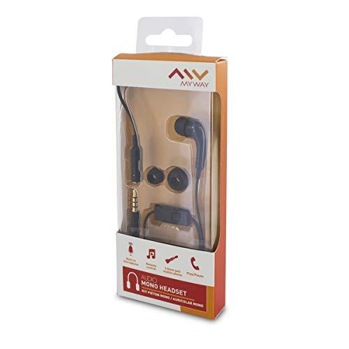 Echo koptelefoon mono zwart 3,5 mm universeel met microfoon en adapter 3,5 mm