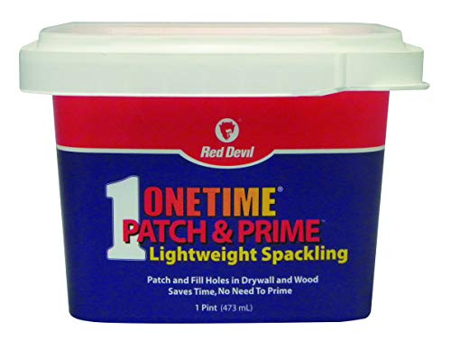 Red Devil 0540 ONETIME Patch & Prime Lightweight Spackling, Pack of 1, White