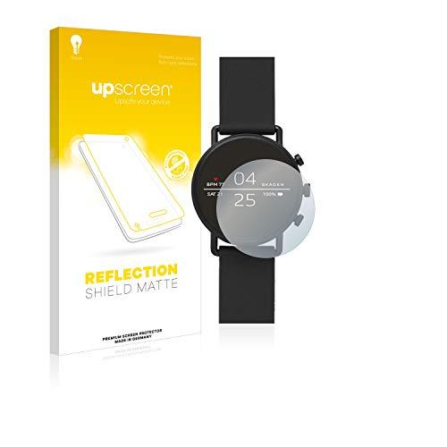 upscreen Entspiegelungs-Schutzfolie kompatibel mit Skagen Smartwatch Falster 2 – Anti-Reflex Bildschirmschutz-Folie Matt