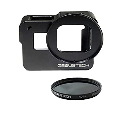 Genustech Genus Cage for GoPro HERO5, HERO6, and HERO7 Black with ND 0.9 (ND8) 52mm 3 Stop Neutral Density Filter by Genustech