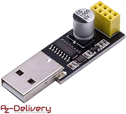 AZDelivery USB-zu-ESP8266 01 Serial Wireless Wifi Module für ESP-01 mit gratis eBook!