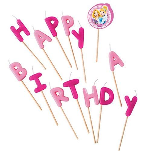 Disney Princesse Bougies Happy Birthday Lot de 13 pièces