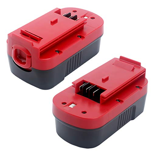 Lasica 2-Pack Replacement for Black and Decker 18V Battery HPB18-OPE Black & Decker 18 Volt Outdoor Cordless Power Tools 244760-00 HPB18 A1718 Firestorm FS180BX FS18BX FS18FL FSB18 18V NiCad Battery