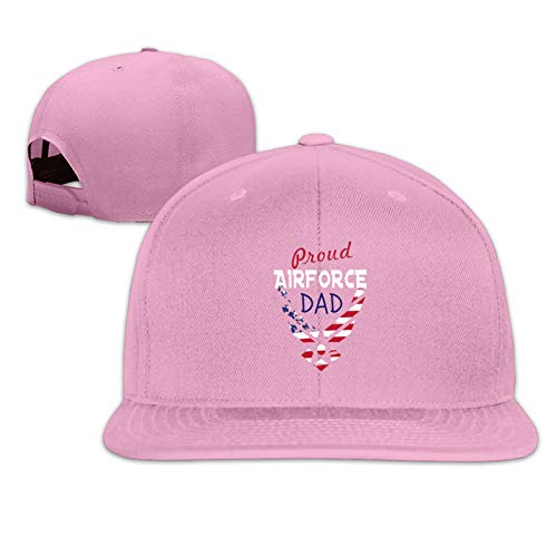 Proud Airforce Dad Mug Unisex Herrenmütze Sportkappe Hip-Hop-Kappe Verstellbare Flache Herren-Baseballmütze Sonnenmütze für Erwachsene