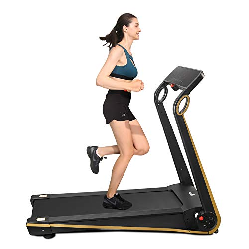 FISUP Foldable Electric Treadmill for Home Office use Exercise Equipment Walking Jogging Silent with APP Installation Free