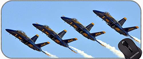 XXL Große Größe Mauspads, F 18 Kämpferflugzeug Military Navy Smoke Aircraft Aircraft Professionelle Mousepad, Nähte Kanten