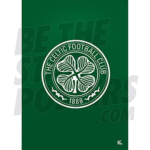 Be The Star Posters Celtic FC 2020/21 Club Crest A2 Football Poster/Print/Wall Art - Officially Licensed Product - Available in Sizes A3 & A2 (A2)