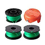 Thten String Trimmer Spool Replacement for Black and Decker SF-080 GH3000 LST540 Weed Eater 20ft 0.080' GH3000R LST540B Auto Feed Single Line with 90583594Cap Covers Parts