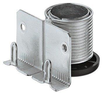 Gedotec Sockelfuß Sockel-Höhenversteller zum Einbohren & Schrauben | Tragkraft 150 kg | Sockel-Verstellfuß Stahl massiv | +20 mm höhenverstellbar | 1 Stück - Möbelfüße Küche mit mit Auflagewinkel