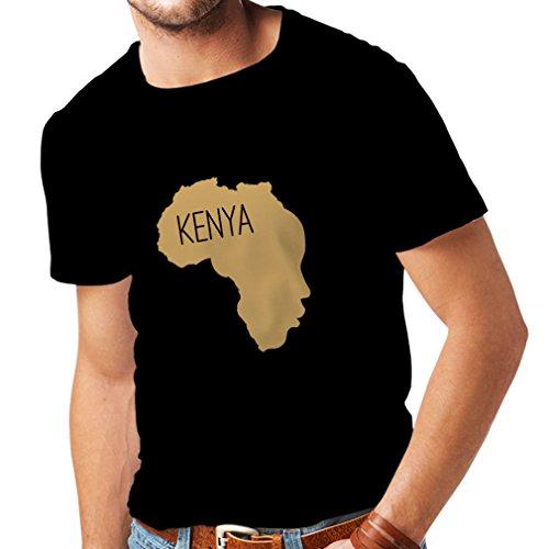 lepni.me Camisetas Hombre Salvar Kenia - Camisa política, Refranes de la Paz (XX-Large Negro Oro)
