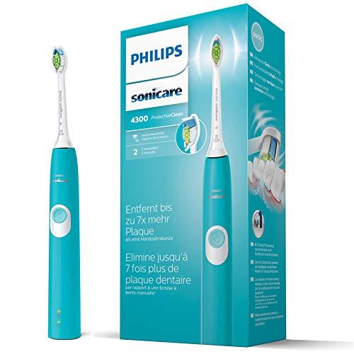 Philips Sonicare Protectiveclean 4300 elektrisk tandborste med ljudteknik blå