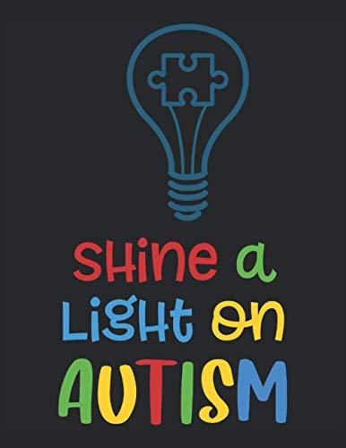 Libro de trabajo del planificador de autismo: arroje luz sobre el autismo: Cuaderno de trabajo del planificador de autismo - Tapa blanda 120 páginas formato de 8.5 x 11 pulgadas