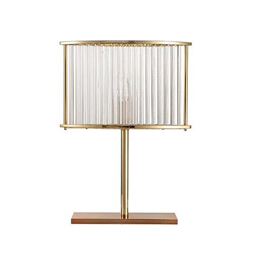 YHKQS-KQS Lampe de Bureau en Cristal, posmoderne Simple Acrylique en Plastique Transparent Plaquage Lit de Bureau Eclairage de Nuit E14 Source Lumineuse
