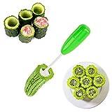 Cortador de sacacorchos Veggie, 1 juego de taladro hueco, cortador de verduras en espiral con 4 cabezales reemplazables, herramienta de cocina