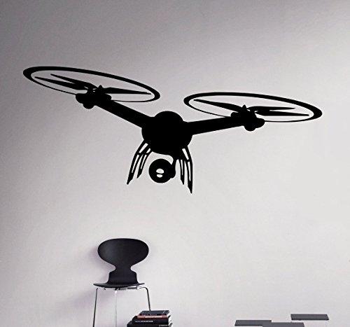 Quadrocopter Wall Vinyl Aufkleber Spy Drone Wandtattoo Flugzeug Home Art Decor Ideen Innen herausnehmbarer Kids Raum Design 5(DRN)