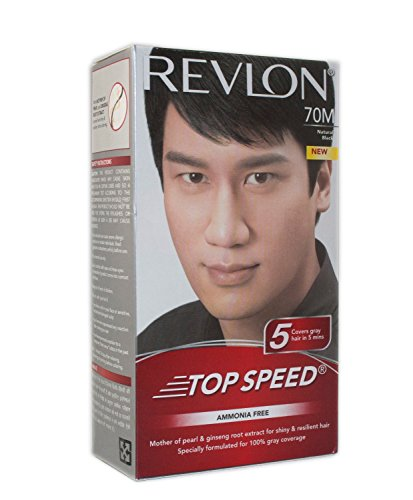 Revlon Top Speed Hair Color Man, Natural Black 70, 100 gm