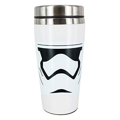 Star Wars 7 Stormtrooper to Go Kaffee Becher Travel Mug 450ml Edelstahl weiß