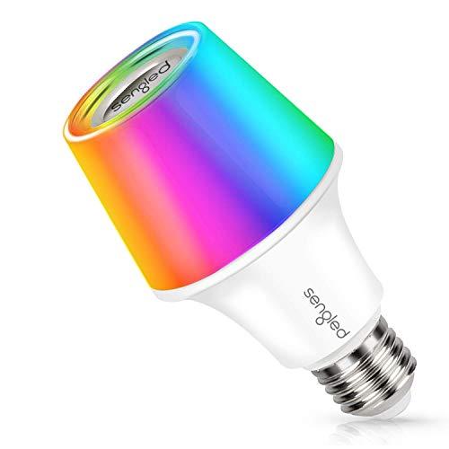 Sengled Bombilla LED con altavoz Bluetooth E27 de Solo RGBW, con cambio de color de música, bombilla inteligente, luz regulable mediante aplicación, lámpara RGB para dormitorio, armario, bar,