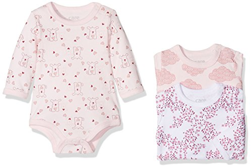 Care Bali Body Bebé-Niñas, pack de 3, Multicolor (Dusty rose 505), 3 Meses / 62 cm