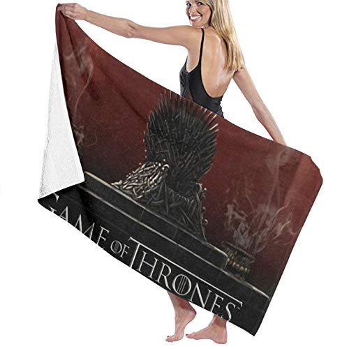 Juego de Tronos Totem Toalla de playa de microfibra grande toallas de playa de gran tamaño, toalla de playa libre de arena, toalla de playa para baño, viajes al aire libre, piscina, deporte, hotel