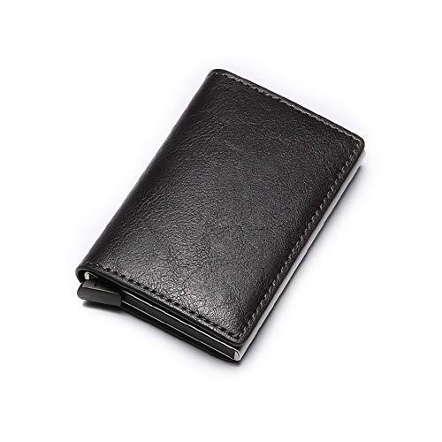 Glqwe Thin Men portemonnee mannelijke mini dunne map Trifold papier kleine onderdelen zakken RFID blok
