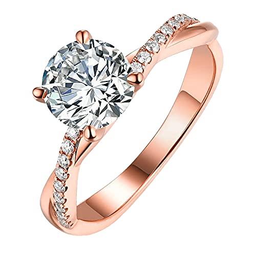 Anelli da Donna Anelli da Dito Anello a Forma di Artificiale Diamante Pieno a Forma di Goccia D'acqua con Artificiale Diamante Intagliato a Forma di Diamante Vuoto Ragazze Charm Fashion Jewelry JKQQ