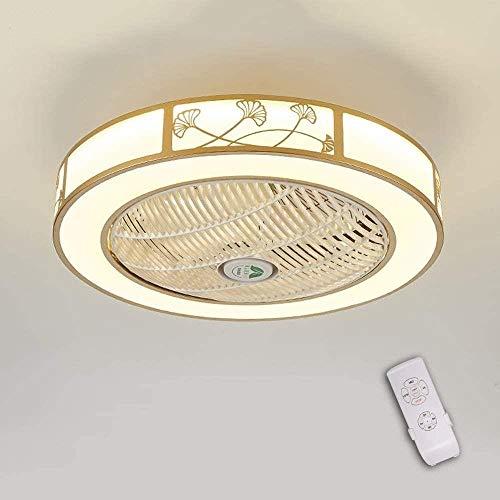 Unsichtbare Deckenventilator LED-Licht, Moderne LED-Deckenventilator Deckenleuchte mit Licht und Fernbedienung Lüfter Licht? Von? Decken Schlafzimmer Deckenbeleuchtung Wendemesser? Zur? Ceiling