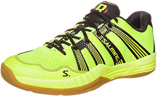 Salming Race R1 2.0 Spring Edition Indoor Handballschuhe Hallenschuhe neon/schwarz, Schuhgröße:EUR 48.5