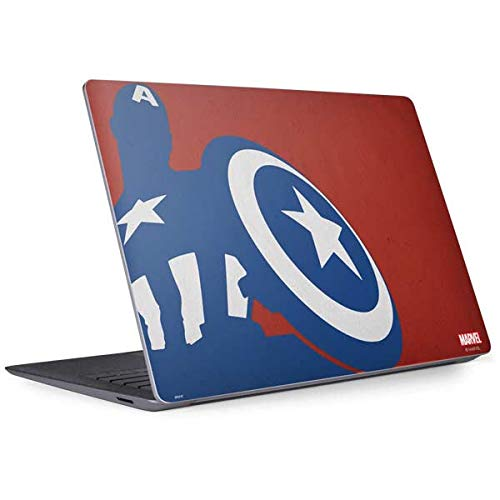 Skinit Decal Laptop Skin Compatible with Surface Laptop 3 13.5in - Officially Licensed Marvel/Disney Captain America Silhouette Design