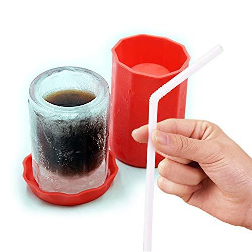 Haoshangzh55 Großraum-Kunststoff-Wasserschale Silikon Eisschale Sommer Wasserschale Portable Eisschale Eisbehälter Mit Deckel