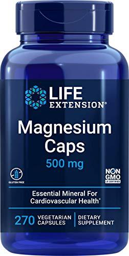 Life Extension Magnesium Caps 500mg, 270 Veg Capsules - Broad Spectrum - 4 Mags in 1 Supplement: Oxide, Citrate, Succinate, Glycinate - Vegetarian, Vegan