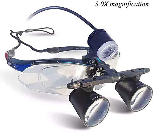 AJINS Lente de Aumento Espejo 3X Dental quirúrgico médico lupas binoculares, odontología, cirugía plástica, oftalmología, neurología, otorrinolaringología, etc.