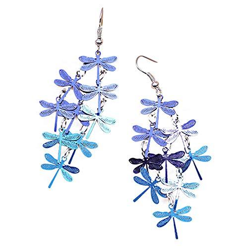 SJHFG Pendientes de borla con diseño de libélula, estilo bohemio, largos y elegantes, para joyas, accesorios de decoración de regalo para mujeres, estilo 5