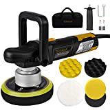 "Polisher, Car Polishers Ginour 6"" Dual-Action Car Buffer/Waxer, 2000-6400OPM, High Performance Kit"