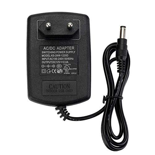 GreenSun LED Lighting Trafo Netzadapter für LED 12V DC, AC 100-240V Transformatoren, Netzteil für 3528/5050 LED Streifen 24W Maximal Stromversorgung 2A Europäischer Stecker