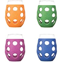 4-Pack Lifefactory Glass with Protective Silicone Sleeve