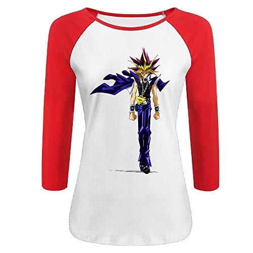 DFHSDD Women's Yu-Gi-Oh Card Game Animation 3/4 Sleeve Crew Neck T-Shirts